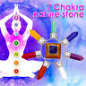 Gemstone Pyramid Energy Generator Healing 7 Chakra Crystal Point Reiki