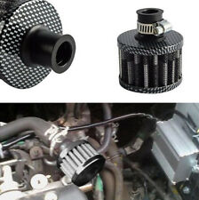 1x Carbon Fiber Look 12MM Air Filter for  Vehicle Car Carburetor and Intake pipe