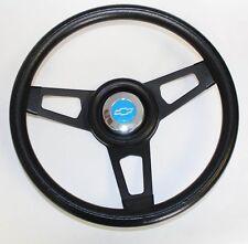 "Chevelle Camaro Nova Grant Black Steering Wheel black spokes 13 3/4"" Blue Bowtie"