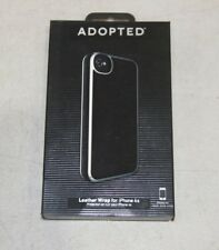 Adopted Leather Wrap Case for iPhone 4 - Black/Silver