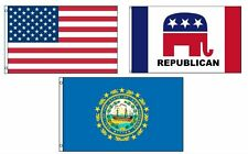 3x5 American & Republican & State of New Hampshire Wholesale Set Flag 3'x5'