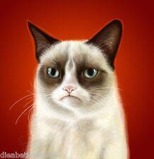 Grumpy Cat Internet Meme Tardar Sauce Portrait Reddit Tumblr Art print poster