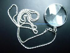 necklace pendant magnifying glass 5X magnifier NEW