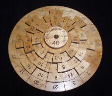 Safecracker 40 wood brain teaser puzzle - math & logic puzzle - unique made USA