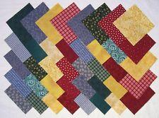 """COLOR STASH 4"""" Squares 100% Cotton Prewashed Calico Quilt Block Fabric (#E/100A)"""