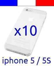 10 Coque transparente de protection plastique rigide crystal pour iphone 5 5S
