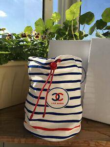AUTH Chanel small beach bag makeup purse RARE