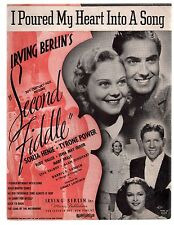 I Poured My Heart Into A Song '39 Second Fiddle Sonja Henie T Power Sheet Music