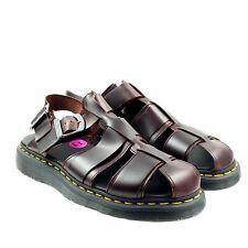 Dr. Martens Kassion Mens Brown Leather Fisherman Ankle Strap Sandals Sz 11