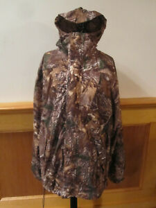 Mens CABELAS Rain Suede Packable Parka 4MOST DRY PLUS Realtree Xtra Camo XL TALL