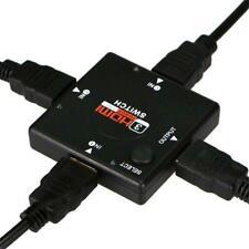 3 Port HDMI Splitter 1080P Multi Switch Switcher Hub Box LCD HDTV PS4 XBOX PS3