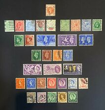 Great Britain Stamps, 1887-1965 - 32 Used, 2 Mh - includes Scott 129, 130, 131