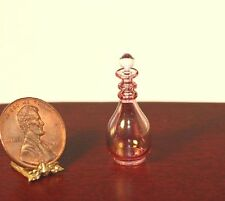 Dollhouse Miniature Cranberry Glass Ribbed Decanter by Philip Grenyer