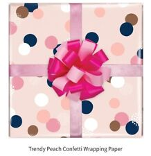 Confetti Spot Pink birthday gift wrapping paper 50cmx70cm 1 sheet