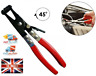 45° Car Water Pipe Fuel Hose Clamp Pliers Swivel Drive Jaw Lock Removal Tool kit
