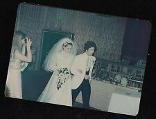 Old Vintage Photograph Woman Taking Picture With Camera of Wedding Bride & Groom