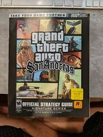 Grand Theft Auto San Andreas Official Strategy Guide Book w/ Map Poster PS2