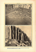 Rare 1903 Antique Print Picture Geology Anticlinal Fold Chesapeake Ohio Canal