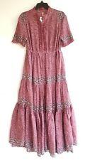 Free People Rare Feeling Maxi Plum Medium Prairie Dress Reg $148.00 NWT