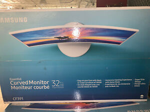 Samsung C32F391FWN 32in LED Curved Monitor Ultra Slim Design - White High Glossy