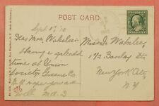 1910 DPO 1860-1912 UNION SOCIETY NY CANCEL WINDHAM POSTCARD