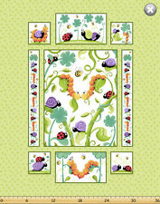 "Susybee LEIF the CATERPILLAR Panel Quilt Fabric ~ 35"" x 44"""