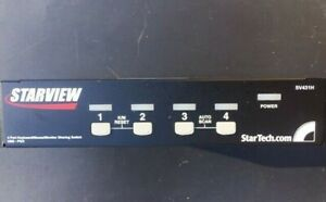 STARVIEW SV431H 4 Port Keyboard/Mouse/Monitor Sharing Switch USB-PS2 - tested