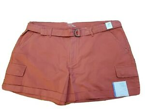 Time And Tru Women/'s Pull On Millennium Bermuda Shorts S 4-6  Green Amber