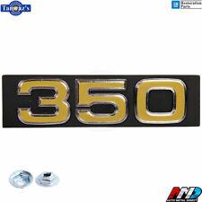 "75-76 Chevy C/K Pick Up Truck Blazer Suburban "" 350 "" GRILLE EMBLEM w/ Hdw - AMD"