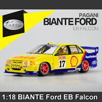 1:18 Scale BIANTE Ford EB Falcon Yellow #17 Diecast Model Car Toys With Case