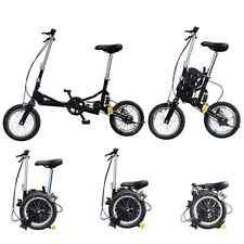 "12"" Small Size Single Speed Folding Bicycle Bike Mini Foldable Bike - Black"