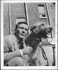 Douglass Montgomery 1954 Original Press Photo 1950s Television Irish Terrier
