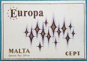 1972 Malta Europa Presentation Folder + Special Hand Cancel's