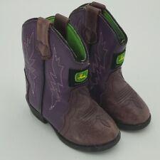 John Deere Purple Kids Boots - Size 6M