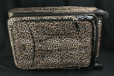 "Lucas Luggage Leopard Print Softside Expandable Rolling Suitcase 28"" w/Spinner"