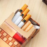 Novelty Windproof Flame Cigarette Shaped Refillable Butane Gas Cigar Lighter HOT