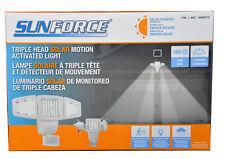 SunForce 180 LED Triple Head Solar Powered Motion Activated 1500 LMS Flood Light