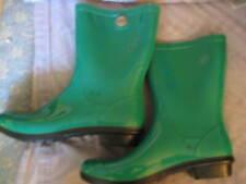 UGG GREEN RUBBER RAIN BOOTS, SZ 10