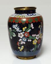 Vintage Cloisonne Vase Floral Chinese