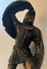 Signed ACC. R.J. Moore 1978 Winged Warrior Native American Art Statue