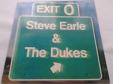 Steve Earle & the Dukes Exit O signed / Autographed by whole band vinyl LP