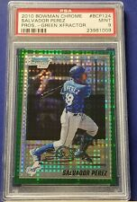 Salvador Perez - 2010 Bowman Chrome Prospects Green XFractor  PSA 9