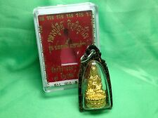 Genuine Lady Buddha Quan Am Strong Life Protection With Nice Case Thai Amulet