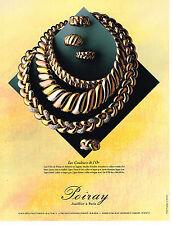 PUBLICITE ADVERTISING 094  1991  POIRAY  joaillier  LES COULEURS DE L'OR