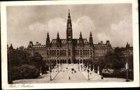 Ansichtskarte PK Österreich Wien Rathaus Fotografie antik gelaufen 1927 Ansicht