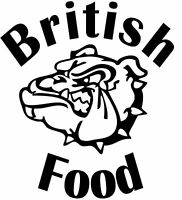 British Food Decal, Catering/Burger Van Stickers, Catering Trailer 550mm x 500mm