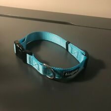 Medium/Large Blueberry Pet Dog Collar, light blue