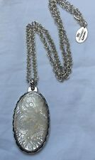 Handmade 950 Silver Laurent Leger Mother of Pearl dragon Griffin pendant & chain