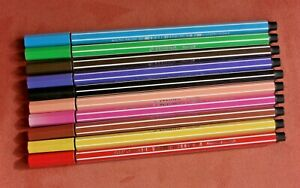 10 Stabilo pen 68 Stifte Filzstifte Fasermaler verschiedene Farben
