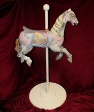 Vintage Carved & Painted Wooden Carousel Horse